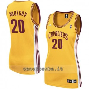 canotta nba donna timofey mozgov #20 cleveland cavaliers giallo