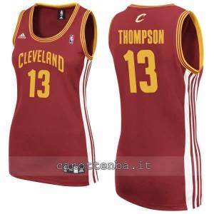 canotta nba donna tristan thompson #13 cleveland cavaliers rosso