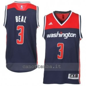 Canotta bradley beal #3 washington wizards 2014-2015 blu