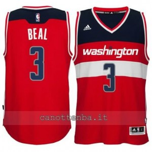 Canotta bradley beal #3 washington wizards 2014-2015 rosso