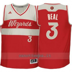 Canotta bradley beal #3 washington wizards natale 2015 rosso