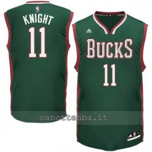 Canotta brandon knight #11 milwaukee bucks 2014-2015 verde