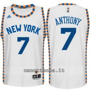Canotta carmelo anthony #7 new york knicks classico bianca