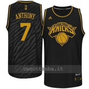 Canotta carmelo anthony #7 new york knicks moda nero