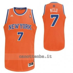 Canotta carmelo anthony #7 new york knicks revolution 30 arancia