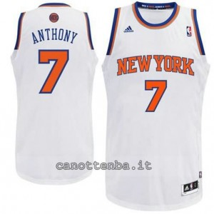Canotta carmelo anthony #7 new york knicks revolution 30 bianca