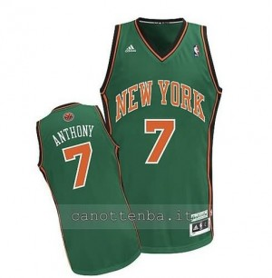 Canotta carmelo anthony #7 new york knicks verde