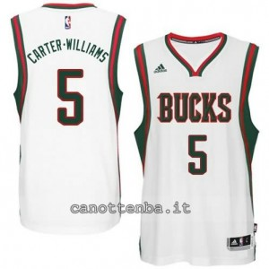 Canotta carter williams #5 milwaukee bucks 2014-2015 bianca
