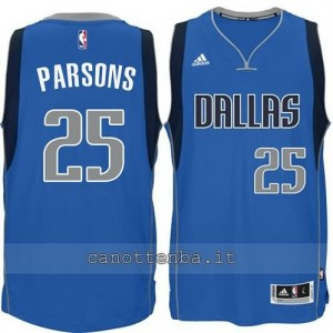 Canotta chandler parsons #25 dallas mavericks 2014-2015 blu