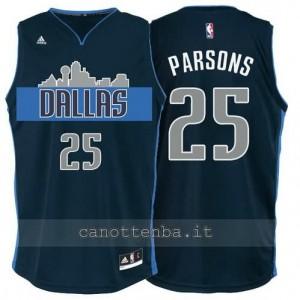 Canotta chandler parsons #25 dallas mavericks navy blu