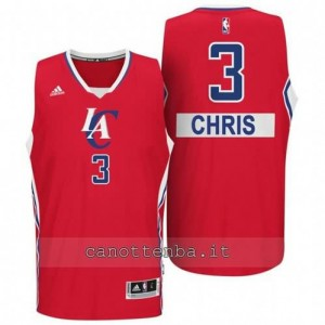 Canotta chris paul #3 los angeles clippers natale 2014 rosso