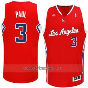 Canotta chris paul #3 los angeles clippers revolution 30 rosso