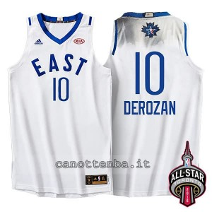 Canotta demar DeRozan #10 nba all star 2016 bianca