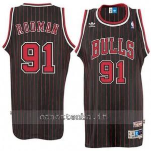 Canotta dennis rodman #91 chicago bulls retro striscia