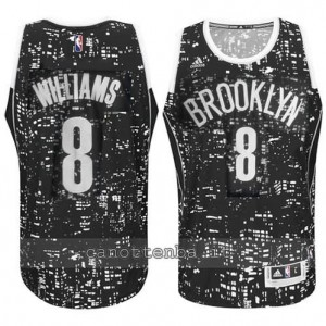 Canotta deron williams #8 brooklyn nets lights nero