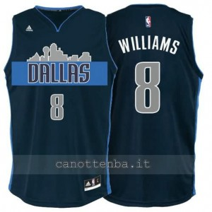 Canotta deron williams #8 dallas mavericks navy blu