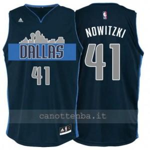 Canotta dirk nowitzki #41 dallas mavericks navy blu