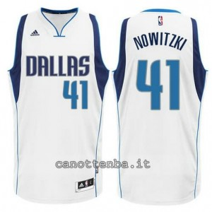 Canotta dirk nowitzki #42 dallas mavericks swingman bianca
