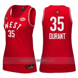 Canotta donna nba all star 2016 kevin durant #35 rosso