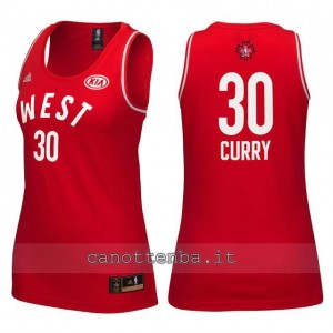 Canotta donna nba all star 2016 stephen curry #30 rosso