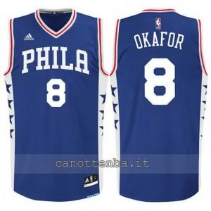 Canotta jahlil okafor #8 philadelphia 76ers 2015-2016 blu