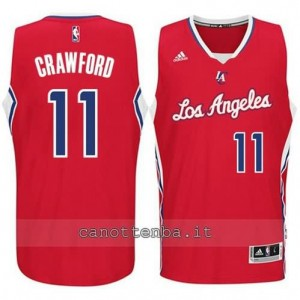 Canotta jamal crawford #11 los angeles clippers 2014-2015 rosso