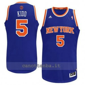 Canotta jason kidd #5 new york knicks revolution 30 blu