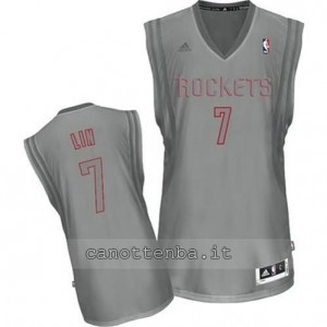 Canotta jeremy lin #7 houston rockets moda grigio