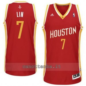 Canotta jeremy lin #7 houston rockets revolution 30 rosso