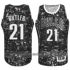 Canotta jimmy butler #21 chicago bulls lights nero