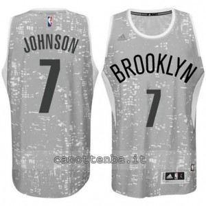 Canotta joe johnson #7 brooklyn nets lights grigio