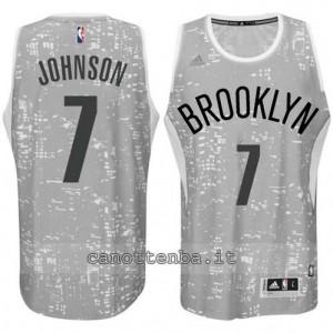 Canotta joe johnson #7 brooklyn nets lights grigio