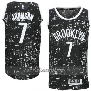 Canotta joe johnson #7 brooklyn nets lights nero