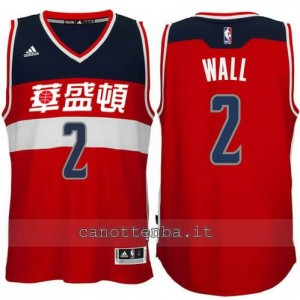 Canotta john wall #2 washington wizards 2015-2016 rosso