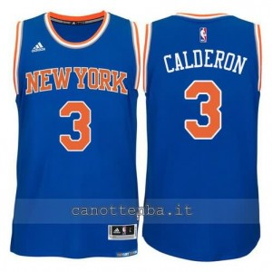 Canotta jose calderon #3 new york knicks 2015 swingman blu