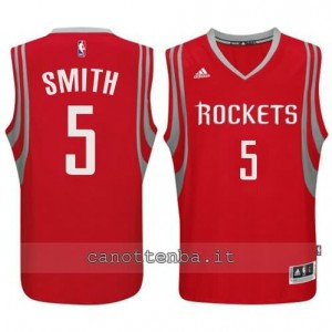 Canotta josh smith #5 houston rockets 2014-2015 rosso