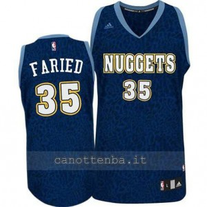 Canotta kenneth faried #35 denver nuggets leopard