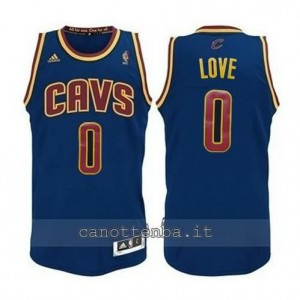Canotta kevin love #0 cleveland cavaliers revolution 30 blu