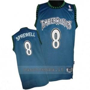 Canotta latrell sprewell #8 minnesota timberwolves soul blu