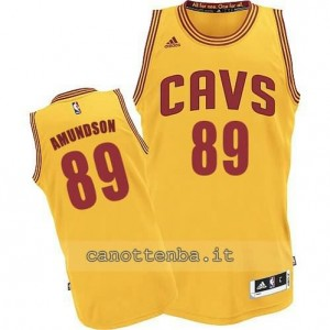 Canotta lou amundson #89 cleveland cavaliers revolution 30 giallo