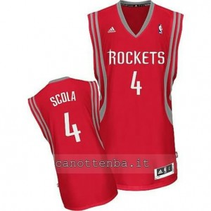 Canotta louis scola #4 houston rockets revolution 30 rosso
