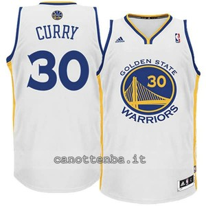 canotta basket bambino golden state warriors stephen curry #30 bianca