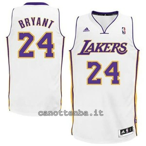 canotta basket bambino los angeles lakers kobe bryant #24 bianca