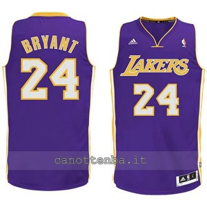 canotta basket bambino los angeles lakers kobe bryant #24 porpora