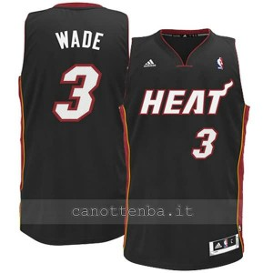 canotta basket bambino miami heat dwyane wade #3 nero