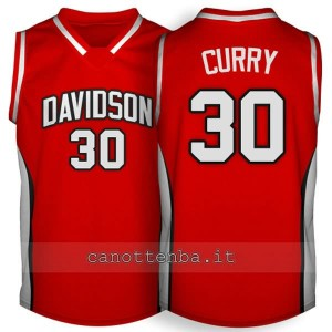 Canotta ncaa davidson 2007-2009 stephen curry #30 rosso