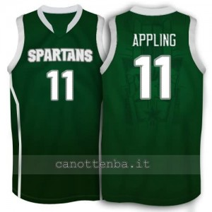 Canotta ncaa michigan state spartans keith appling #11 verde