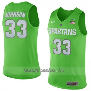 Canotta ncaa michigan state spartans magic johnson #33 verde