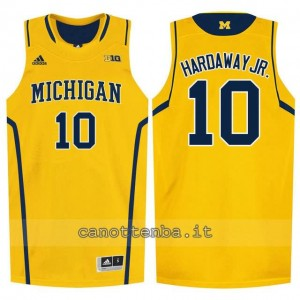 Canotta ncaa michigan wolverines tim hardaway #10 giallo