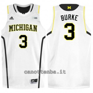 Canotta ncaa michigan wolverines trey burke #3 bianca